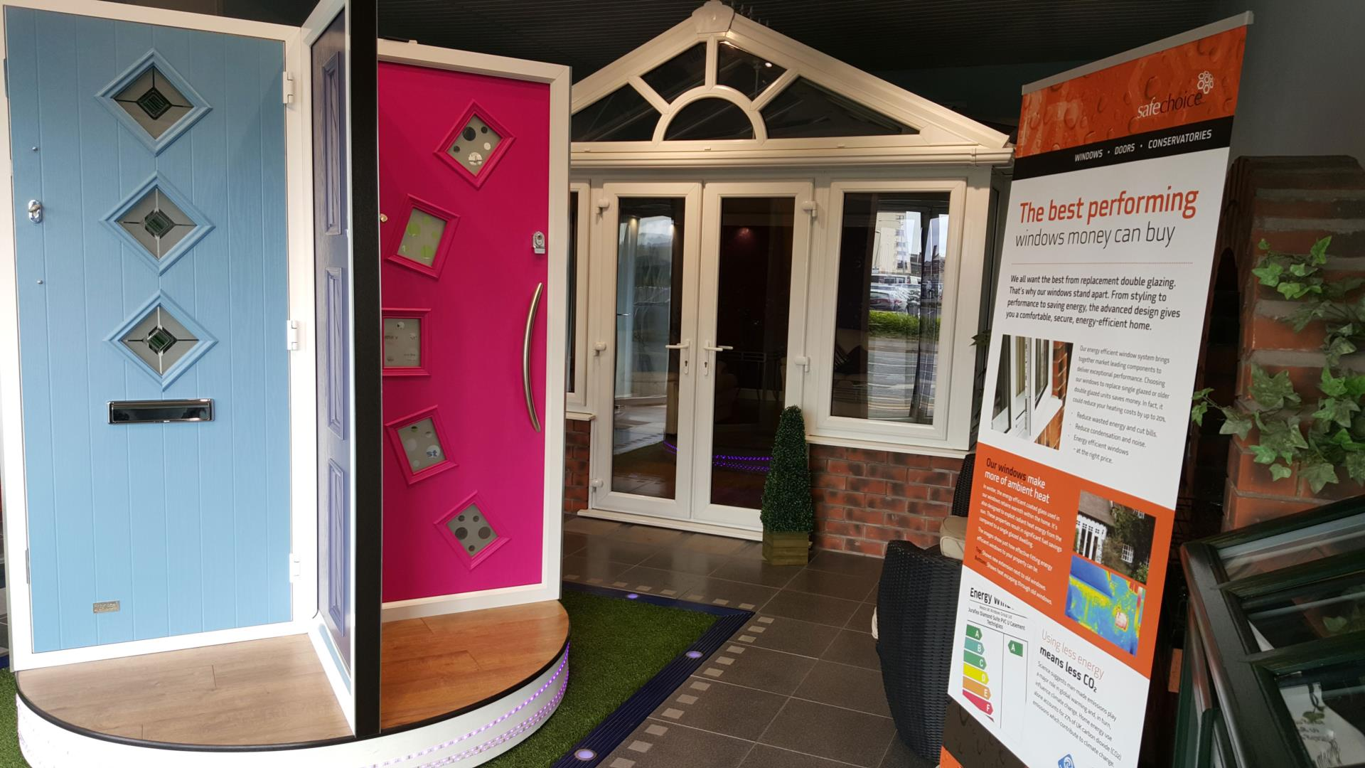Our Composite Door Display Is Currently Being Replaced With A Door Emporium  Covering A Wide Range Of Door Styles And Glass Designs.